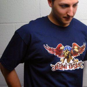 CAMISETA Camiseta PlanetWaves de diseño exclusivo Lethal Threat. Talla L.